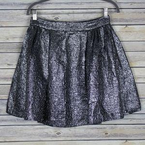 Kate Spade Aimee Metallic Pleated A-Line Skirt